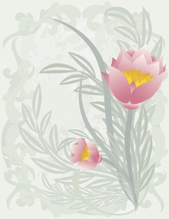 swoop: Ilustraci�n estilizada de una flor de loto. Archivo no contiene gradientes.