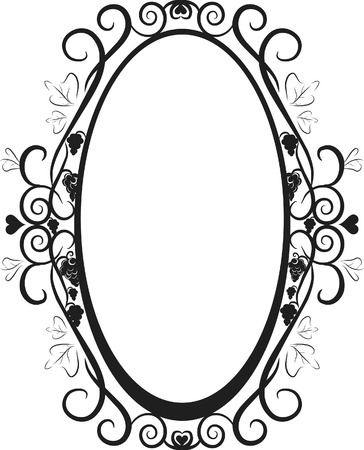 oval  alcohol: Illustration of grapes and ivy in a frame design element.  File contains no gradients.  Illustration