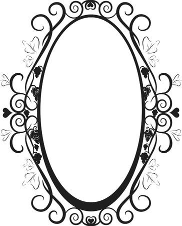 Ilustración de la uva y hiedra en el marco de un elemento de diseño. Archivo no contiene gradientes.  Foto de archivo - 2465336