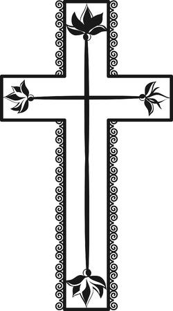 Illustration of a stylized cross. Çizim