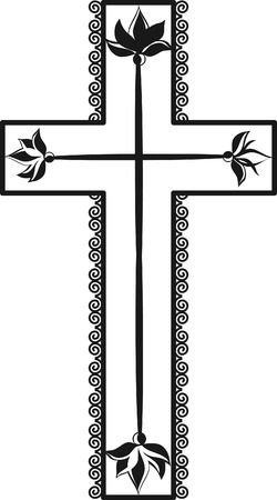 forever: Illustration of a stylized cross. Illustration