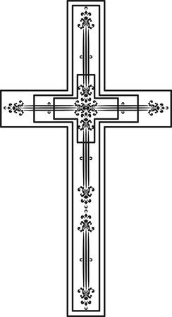 Illustration of a stylized cross. Иллюстрация