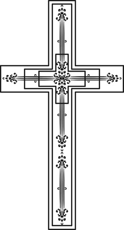 spiritual growth: Illustration of a stylized cross. Illustration