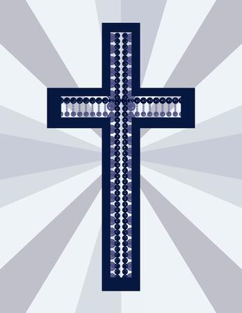 mortality: Illustration of a stylized cross. Illustration
