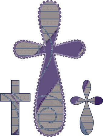 designelement: Retro illustration of crusafix design elements. Stock Photo