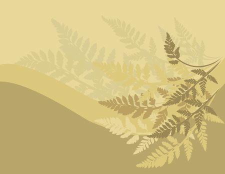 Fern leaves illustrated in an abstract background. Stock Photo - 2471007