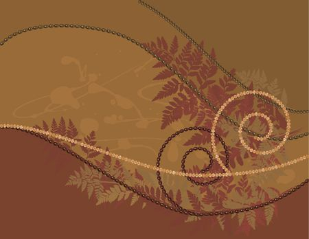 Fern leaves illustrated in an abstract background. Stock Photo - 2505195