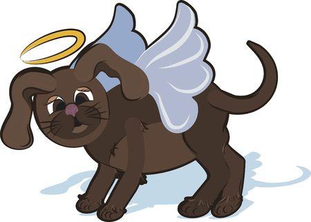 designelement: Cartoon drawing of a cute Puppy Angel.
