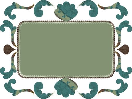 Retro gestileerde frame met kant patroon
