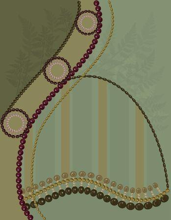 Abstracte achtergrond met parels, edelstenen en natuurlijke grunge texturen. Geen kleur overgangen.