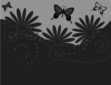 Kort vlinder achtergrond met de natuurlijke grunge textures. Nr. Kleurverlopen. Stockfoto