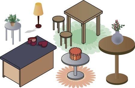 Isometric illustration of office clip art