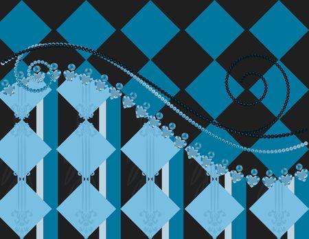 Abstract Plaid achtergrond met parels, edelstenen. Geen verlopen.