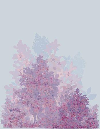 Hand drawn stylized Lilacs.