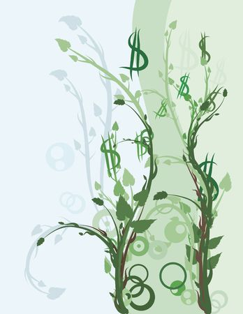 Conceptual illustration of Green financial investments. Stock Photo