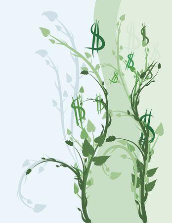 Conceptual illustration of Green financial investments. Reklamní fotografie