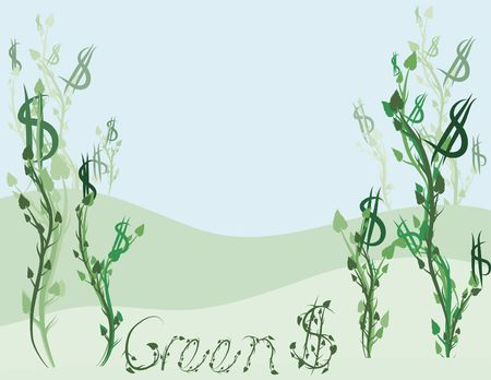 Conceptual illustration of Green financial investments. Zdjęcie Seryjne