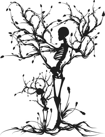生命の木の概念図。1 つの色。