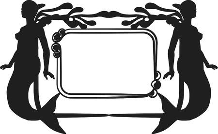 Retro stylized illustration of a Mermaid Stock Vector - 3229312