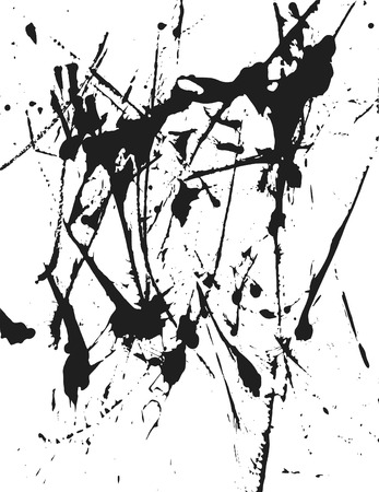 flick: Thick paint spatter and drips made from real paint. One color.