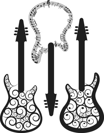 kifejező:  and expressive electric guitar set.