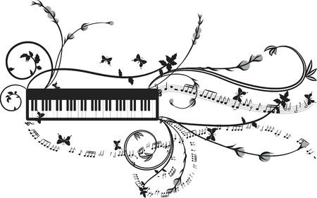simbolos musicales: Grunge musicales electr�nicos explosi�n, no degradados.