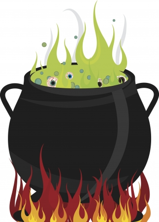 demented: Eyeballs boiling in a hot cauldron. No gradients.