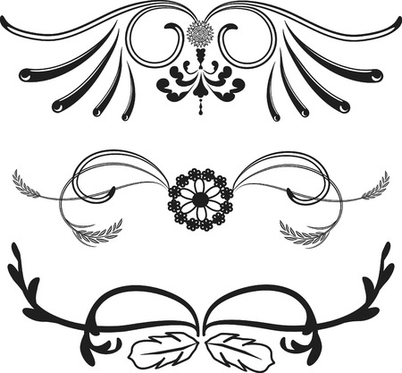 Western themed borders, one color. Vector