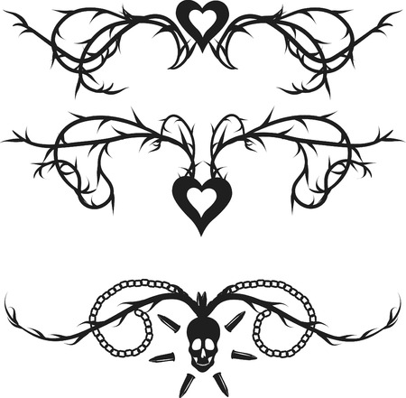 mortalidad: Esqueleto grunge frontera con elementos naturales.