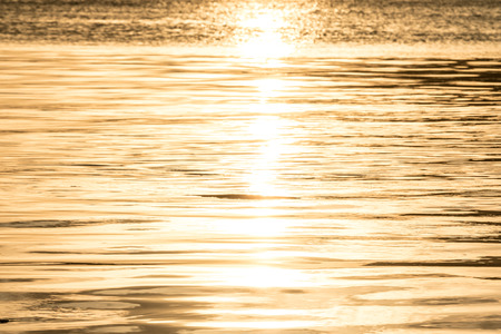 shiny gold: sun is shiny gold beautiful in songkhla lake Stock Photo