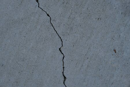 Crack on concrete surface in the streets of Los Angeles