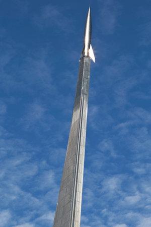 Monument to Soviet rocket Vostok.  Редакционное