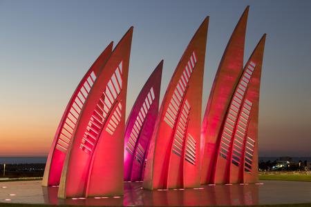ashdod: Sculptural group Sail in Ashdod, Israel