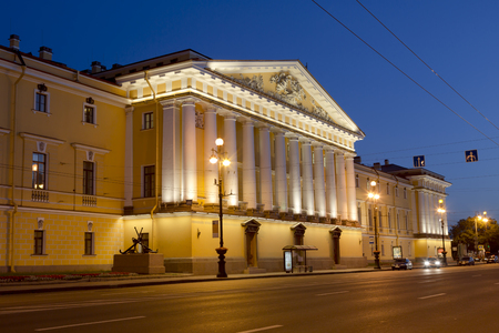 synod: View of St. Petersburg. The historic building of the Senate and Synod