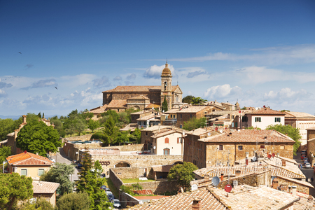 montalcino: View of the medieval town of Montalcino, Tuscany, Italy