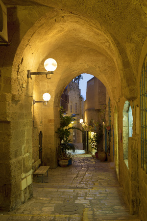 ancient israel: The ancient city of Jaffa in the evening, Tel Aviv, Israel