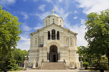 vladimir: The Cathedral of the Holy Prince Vladimir. The burial vault of Russian admirals. Sevastopol, Russia