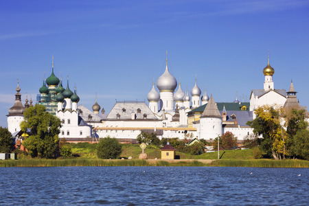 veliky: Panorama Kremlin of Rostov the Great, view from the lake Nero, Russia
