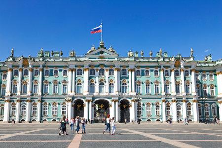 ST. PETERSBURG, RUSSIA - JULY 06, 2015: Winter Palace, Hermitage museum in Saint Petersburg, Russia Editorial