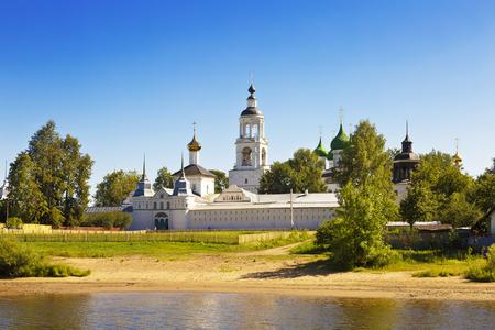 volga river: View of the Tolgsky monastery.View from Volga river. Yaroslavl, Russia