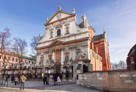saints peter and paul: WARSAW, POLAND - JANUARY 03, 2015: Roman Catholic Church of Saints Peter and Paul in Krakow, Poland
