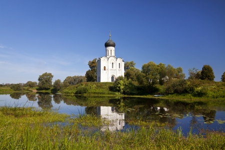nerl river: Church of the Intercession on the river Nerl