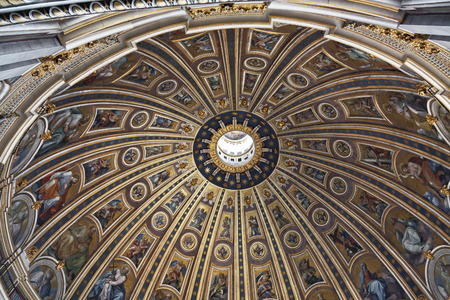 VATICAN, ITALY - MAY 15, 2014: Interior of Saint Peters Basilica  in Vatican. Vatican City is the smallest internationally recognized independent state in the world.