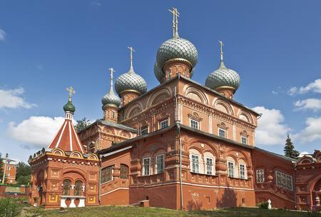 kostroma: Kostroma, Russia, the church of the Resurrection on Debra Stock Photo