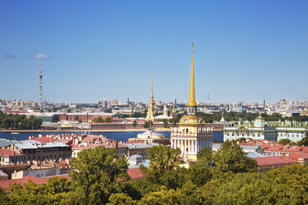 View to the cityscape of Saint-Petersburg, Russia. View from above 스톡 콘텐츠