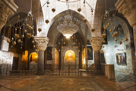 apostolic: The chapel of St. Helena or the chapel of the Holy cross in the Church of the Holy Sepulchre, Jerusalem, Israel. At the present time the Chapel belongs to the Armenian Apostolic Church Editorial