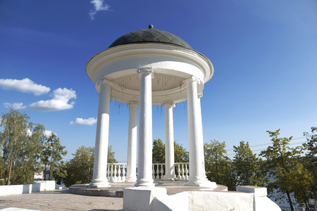 gazebo: Gazebo Ostrovsky in Kostroma. Russia