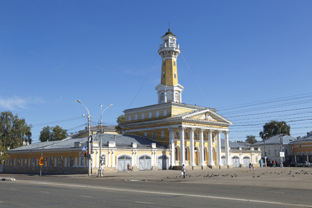 kostroma: Old historical architecture - Fire tower in Kostroma city, Russian province Editorial