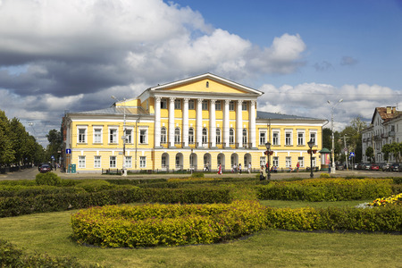farmstead: KOSTROMA, RUSSIA - JULY 24, 2014: The farmstead house of 19 century, which belonged to Lieutenant General Borshchov