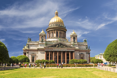 isaac: ST. PETERSBURG, RUSSIA - AUGUST 05, 2015: Saint Isaac Cathedral in Saint Petersburg, Russia
